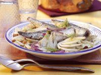 Gebratene Sardinen auf Fenchelgemüse Rezept