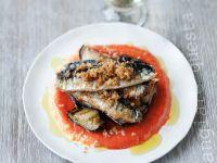 Gebratene Sardinen mit Paprikacreme Rezept