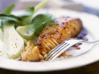 Gebratener Lachs mit Pak Choi Rezept
