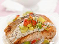 Gebratener Lachs mit Senfsauce Rezept