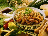 Gebratener Reis mit Meerbrasse Rezept