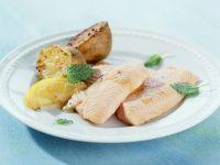 Gebratener Saibling mit Ofenkartoffeln Rezept