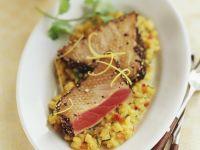 Gebratener Thunfisch auf Steckrüben Rezept