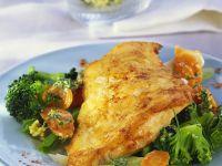 Gebratenes Fischfilet mit Buttergemüse Rezept