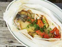 Gedämpfte Forelle mit Gemüse Rezept