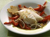 Gedämpfter Fisch mit Sprossen und Ingwer Rezept