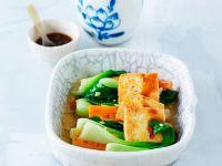 Gedämpftes Gemüse und Brattofu Rezept