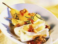 Gedünstete Birnen mit Käse Rezept