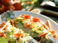Gedünstete Forellle mit Gemüse Rezept