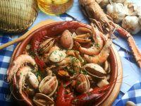Gedünstete Meeresfrüchte mit Kräutern Rezept