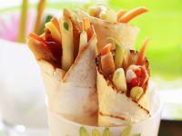 Geflügel-Gemüse-Wraps Rezept