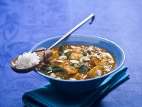 Geflügelcurry mit Spinat Rezept