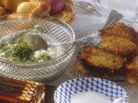 Geflügelsülze mit Kartoffelrösti und Creme Rezept