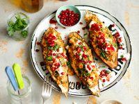 Gefüllte Auberginen mit Quinoa und Granatapfelkernen Rezept