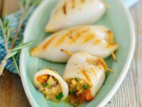 Gefüllte, gegrillte Tintenfischtuben Rezept