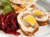 Gefüllte Hähnchenbrust mit Ei