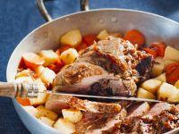 Gefüllte Lammschulter mit Möhren und Pastinaken Rezept