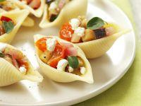 Gefüllte Nudeln mit Auberginen und Feta