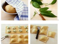 Gefüllte Nudeln mit Bärlauch in zitroniger Butter Rezept