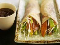 Gefüllte Pfannkuchen mit Pekingente Rezept