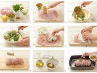 Gefüllte Putenroulade mit Erbsen und Frischkäse Rezept
