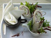 Gefüllte Schinken-Nuss-Röllchen Rezept