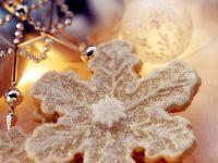 Gefüllte Schneeflockenplätzchen Rezept