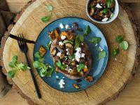 Gefüllte Süßkartoffel mit Aubergine und Feta Rezept