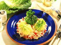 Gefüllte Wirsingblätter mit Reis Rezept