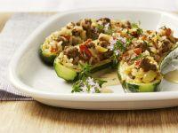Gefüllte Zucchini mit Reis und Hackfleisch Rezept