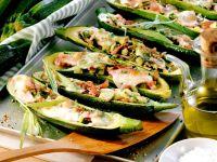 Gefüllte Zucchini mit Schinken Rezept
