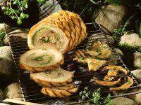 Gefüllter Schweinebauch vom Grill Rezept