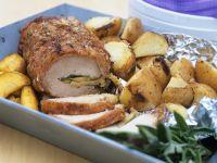 Gefülltes Schweinefilet mit Kartoffeln Rezept