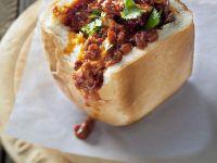 Gefülltes Weißbrot mit Curry aus Südafrika Rezept