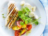 Gegrillte Hähnchenbrust mit Kartoffelsalat und Nektarinen Rezept