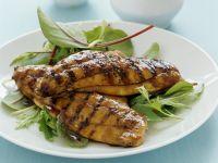 Gegrillte Karpfenfilets mit Honig und Soja mariniert Rezept