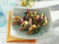Gegrillte Kartoffel-Wurst-Spieße Rezept