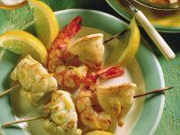 Gegrillte Meeresfrüchtespieße Rezept