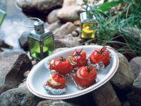 Gegrillte Mozzarella-Pesto-Tomaten Rezept