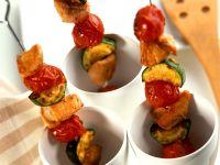Gegrillte Puten-Gemüsespieße Rezept