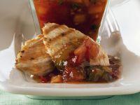 Gegrillte Putenbrust mit Relish aus Tomate und Sellerie Rezept