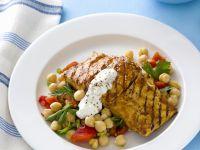 Gegrillter Fisch mit Kichererbsensalat Rezept