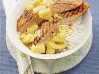 Gegrillter Lachs mit Ananas Rezept