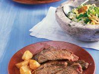 Gegrilltes Steak mit Kartoffeln Rezept
