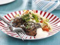 Gegrilltes Steak vom Rind mit Gemüse Rezept