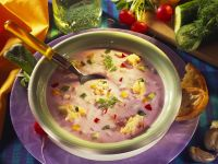 Gekühlte Joghurtsuppe mit Gemüse Rezept