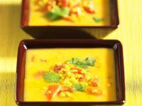 Gelbe Linsensuppe mit Möhren und Koriander Rezept