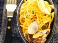Gelbe Spaghetti Vongole Rezept