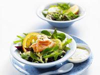 Gemischter Salat mit Lachs Rezept