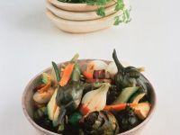 Gemischtes Gemüse mit Speck Rezept